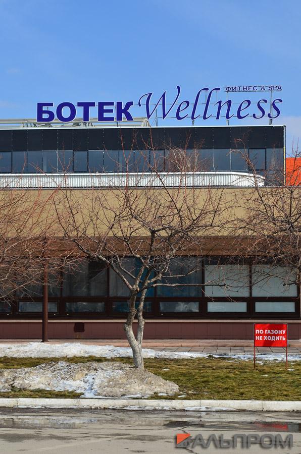 Вывеска фитнес центра Ботек Wellness в Тольятти