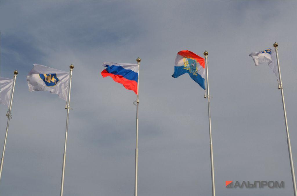 Монтаж флага на флагшток