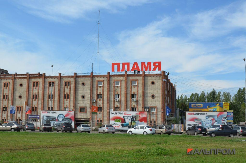 Крышная рекламная установка Пламя в Тольятти