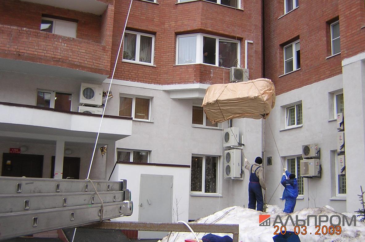 Подъем мебели в окно в Самаре и Тольятти
