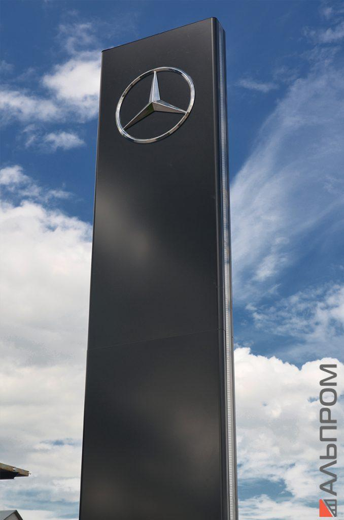 Монтаж стелы Mercedes в Самаре